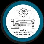 Werkgroep Online onderwijs in praktijkvaardigheden logo diap